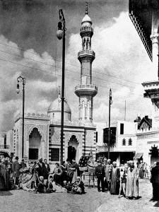 A05 Das arabische Dorf auf der Ausstellung 1902 Q Industrie- und Gewerbeausstellung 1902 o.S