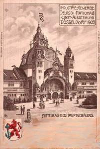 A11 Mittelbau des Hauptgebäudes der Industrie-, Gewerbe, Deutschnationalen Kunstausstellung Düsseldorf 1902. Q privat