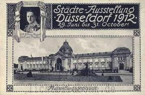 A122 Ansichtskarte der Düsseldorfer Städte-Ausstellung von 1912. Q privat