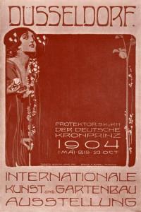 A15 Plakat der Internationalen Kunst-und Gartenbau-Ausstellung Düsseldorf 1904 Q privat