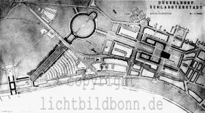 A264 Die Wahl des Ausstellungsgeländes stand in direktem Zusammenhang mit den Planungen für das Schlageterforum; oben ein früher Entwurf von Peter Grund, Mai 1935 Q StAD NL Emundts 9 Foto Julius Söhn