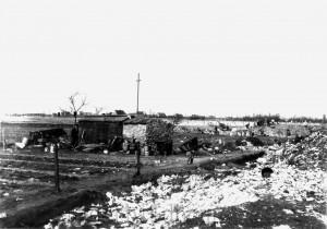 A320 Eine Wohnhütte in der wilden Siedlung Heinefeld, im Hintergrund das Schlageterkreuz Q StAD 038.106.001, Foto Martin Knaur 1934
