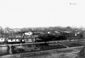 A323 Blick auf d ie Heinefeldsiedlung am 10. Januar 1935 Q StAD IV 2693