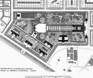 A340 Grundriss der Anlage der Neuen Kunstakademie Q Architektonische Rundschau 1913 Tafel 131