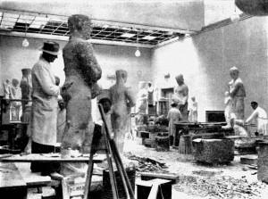 A556 Die 'Ständischen' in der Bildhauerwerkstatt Q Meine Heimat 5.1937.105