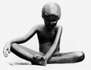 A585 'Sitzendes Kind' von Zoltan Székessy Q Fischer 1965.36