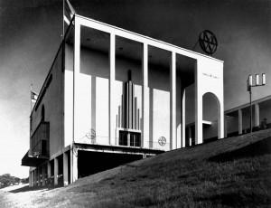 A605 Der Mannesmann-Pavillon am Rheinufer Q StAD 005.163.057