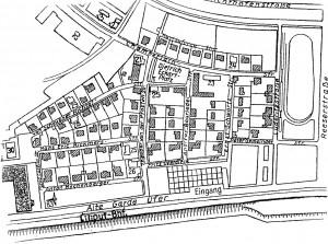 A700 Lageplan der Schlagetersiedlung Q StAD xviii 1822