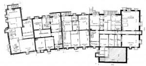 A701a Grundrisse der Ladenzeile, Obergeschoss Q StAD xviii 1822