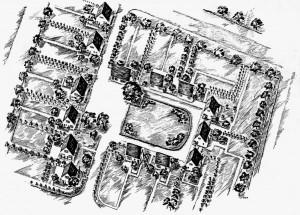 A731 Lageplan der Wilhelm-Gustloff-Siedlung Q BSW 4.1937.107