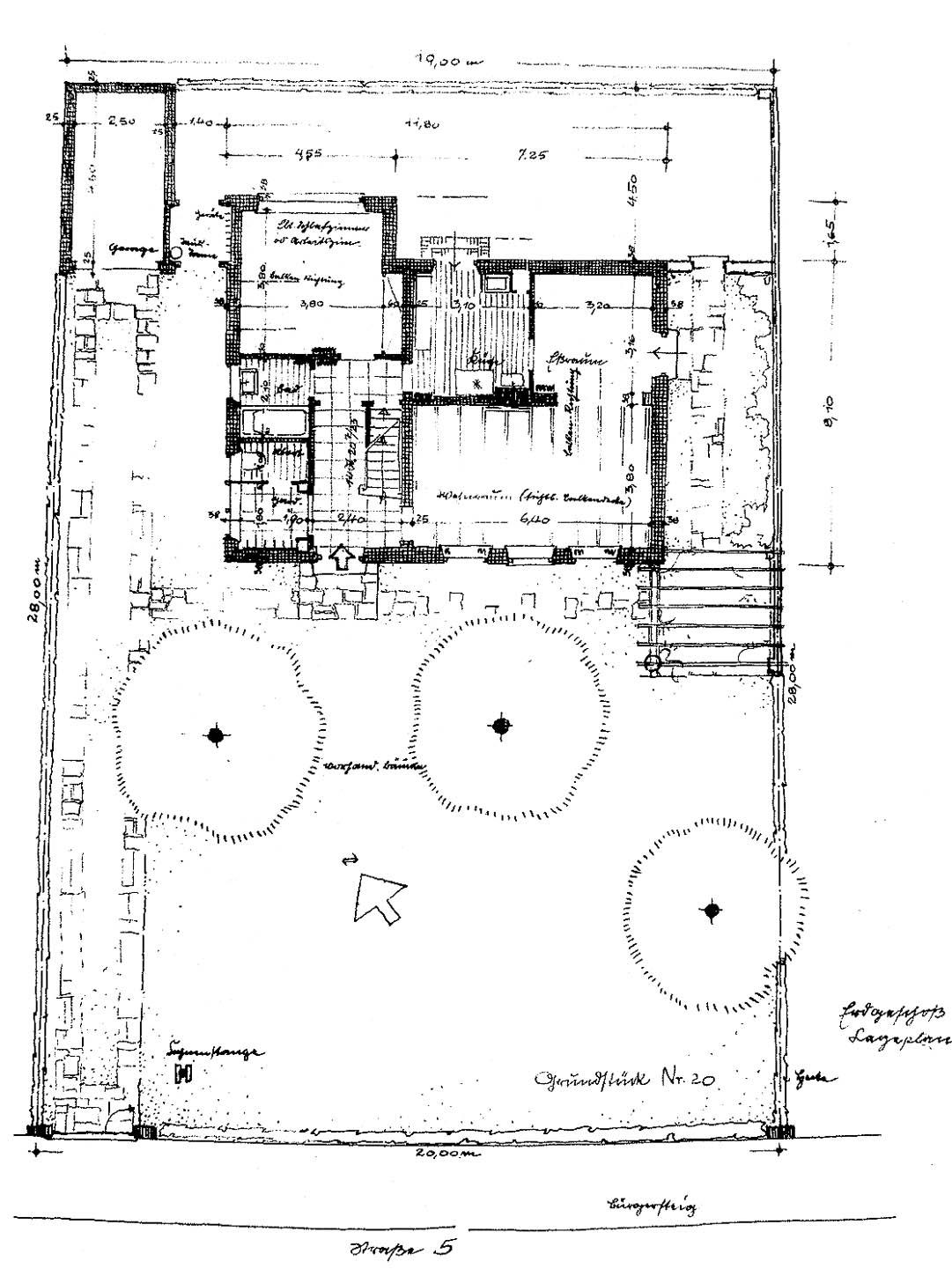 Siedlungshaus grundriss die gestaltung der h user b die for Japanisches haus grundriss