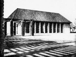 A806 Die Gartenhalle von Fritz Becker an der Stelle des früheren Konditorencafés Q DBZ 1940.K334