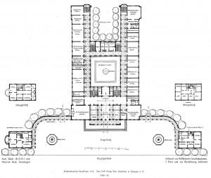 A156 Erdgeschoss des Hauptgebäudes der Neuen Kunstakademie, Architekt Karl Wach Q Architektonische Rundschau 1913.Tafel 133
