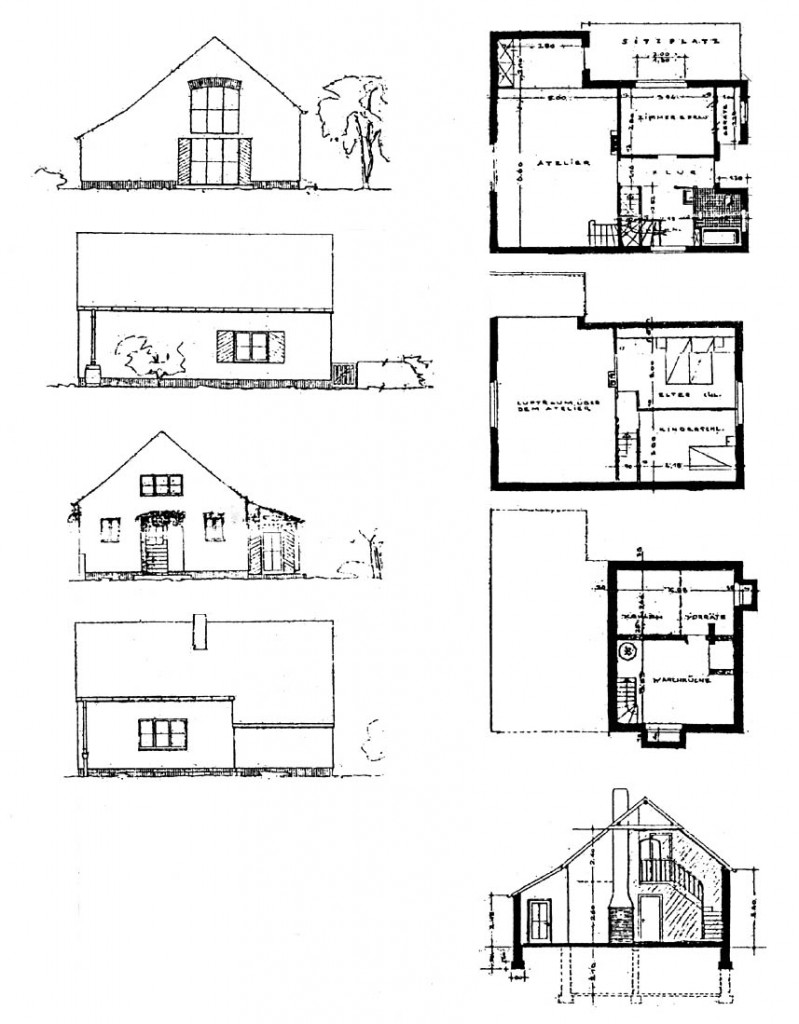 A958 Risse GS 8 Architekt Heinz Thoma Q StAD xviii 1786