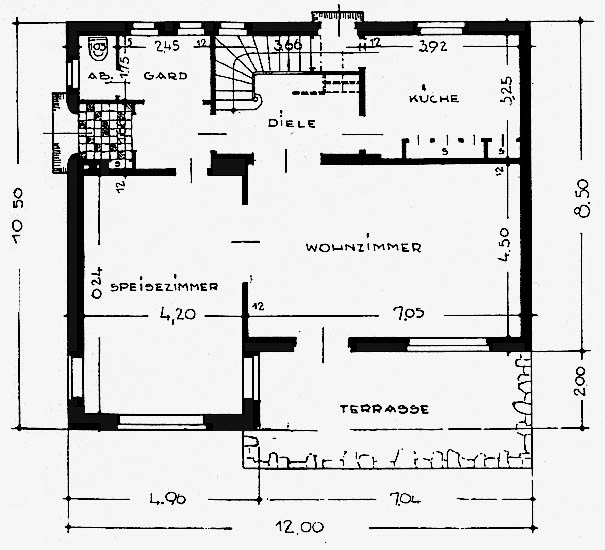 A972 Grundstück 62 Architekt Hans Klüssendorf Q DBZ 1937.84